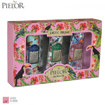 Kit Creme de Mãos Pielor Exotic Dream Rosa