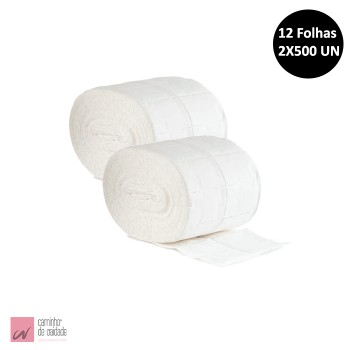 Rolo de Compressas Celulose 2x500 Un (12 camadas)