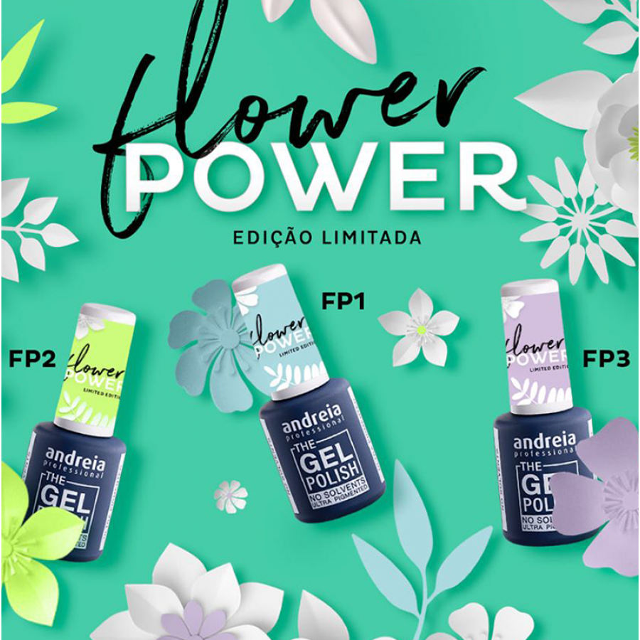 Kit Verniz The Gel Polish Andreia FLOWER POWER