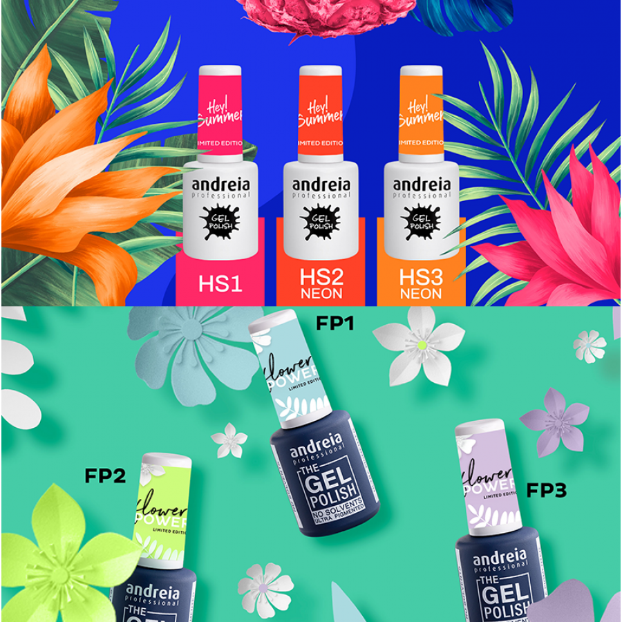 Kit Verniz Gel HeySummer + FlowerPower - PACK 6 CORES