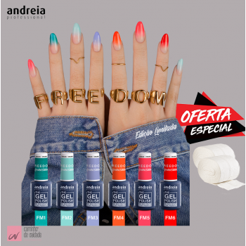 Kit Verniz The Gel Polish Andreia FREEDOM